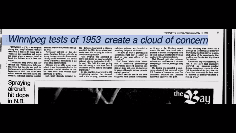 A Cloud of Concern - Documenting Chemtrails Past to Present