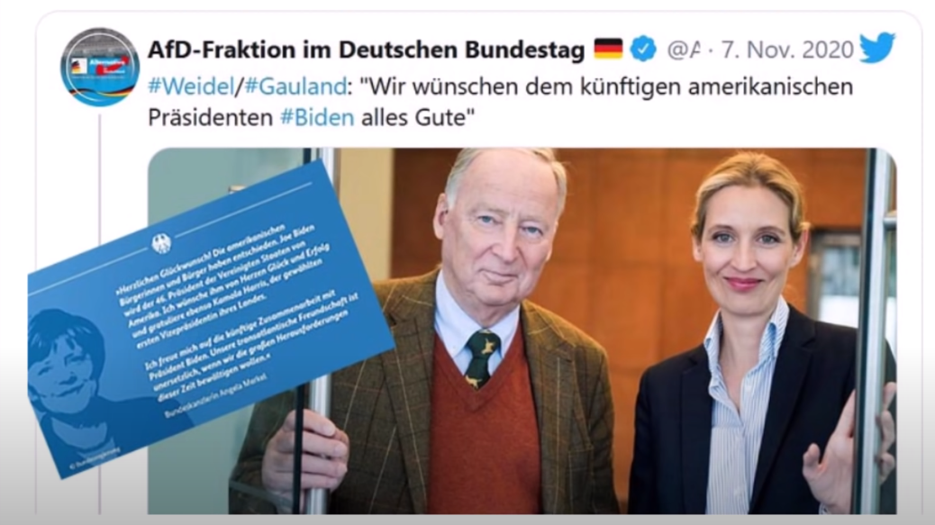 AfD Leaders Congratulated Biden AfD2 White Nationalism  us canada politics government politics news europe