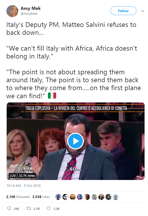 4D Chess Is Not Happening Africa doesnt belong Politics nationalism European migrants Donald Trump  us canada society culture politics government politics news europe