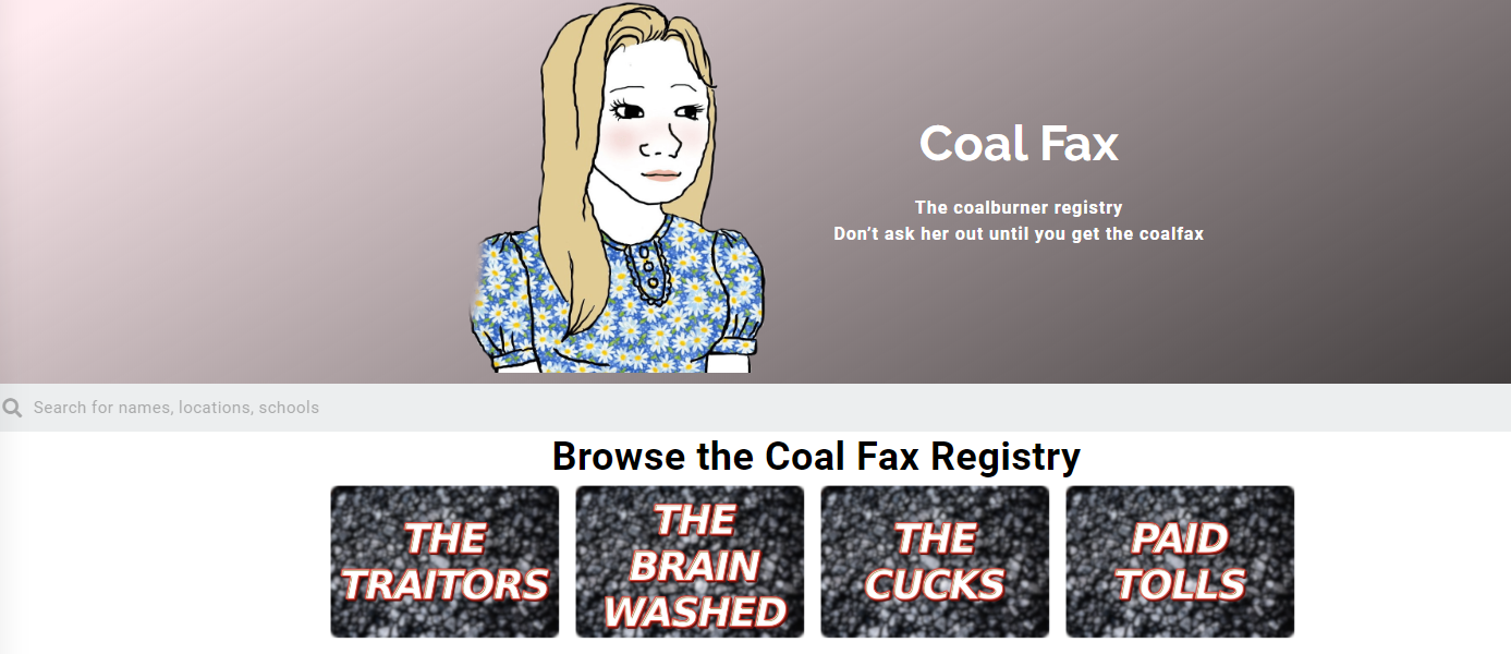 Russian Website Catalogs Coalburners For Your Convenience CoalFax White Nationalism  us canada politics government europe