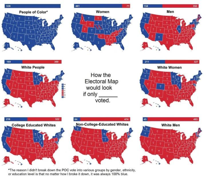 The Manosphere Is Enemy Propaganda Electoral Map 1 White Nationalism nationalism  us canada politics government other europe