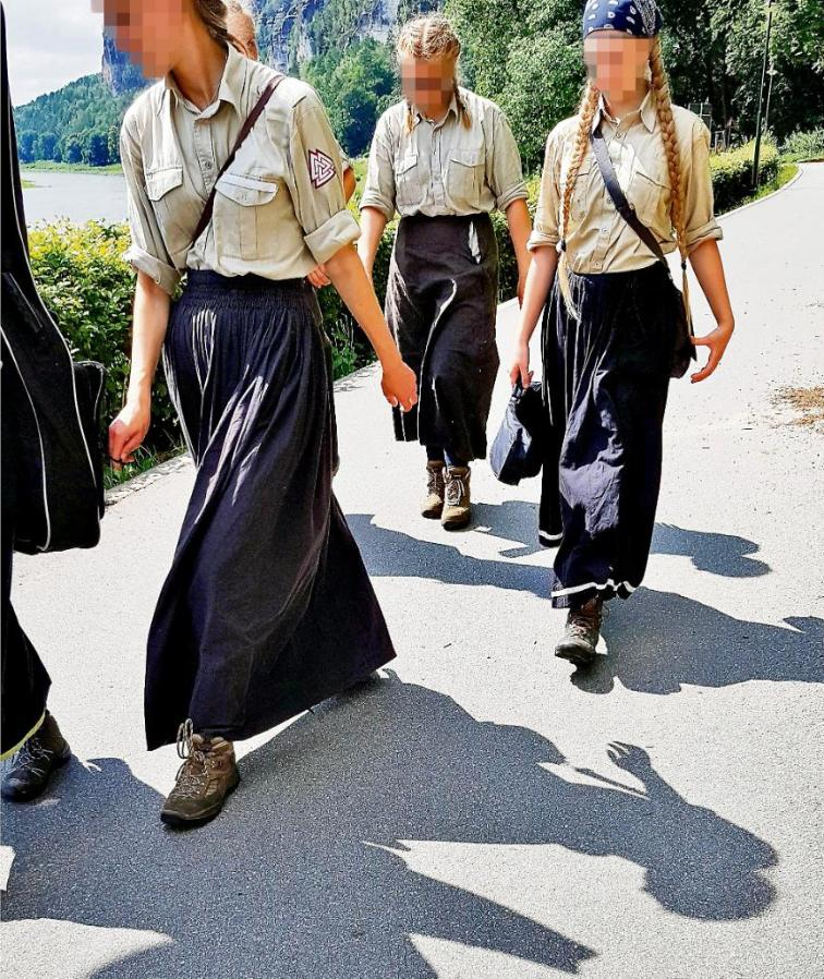 German Girls With Braids Go For Stroll: Media Attacks Them German Girl Group 2 White Nationalism  politics government europe