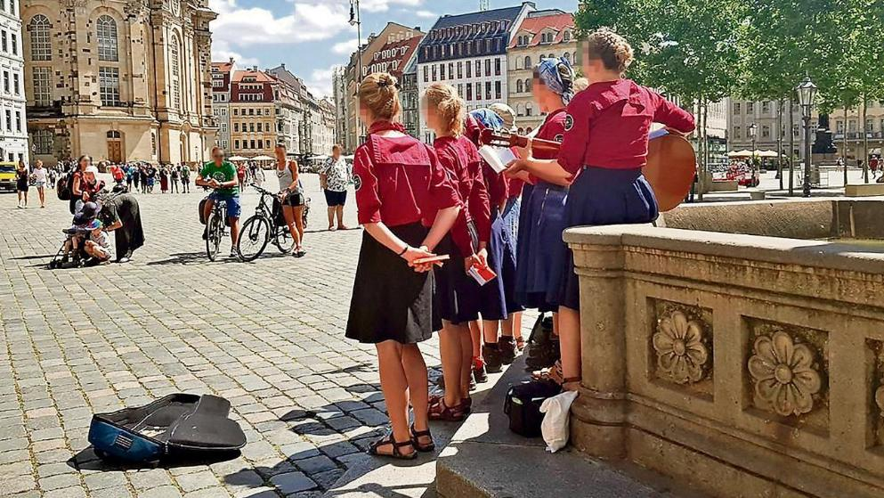 German Girls With Braids Go For Stroll: Media Attacks Them German girl group 1 White Nationalism  politics government europe
