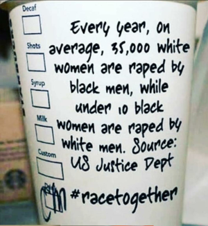 The Black Armies Are Mobilizing Starbucks race together 1 White Nationalism  us canada politics government europe