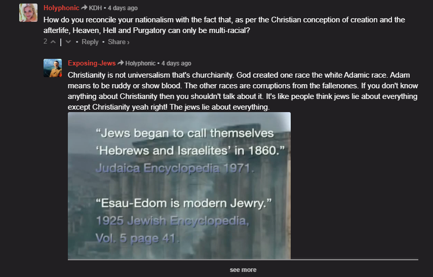 A Conversation With A Christian Nazi Christian 1 White Nationalism  politics government europe