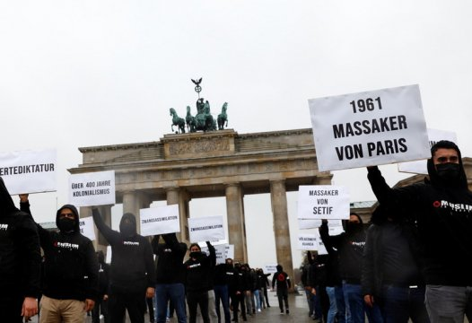 Berlin: Saracens Protest Macron Mohammed Cartoons; Jews Support Crackdown On Islam 1