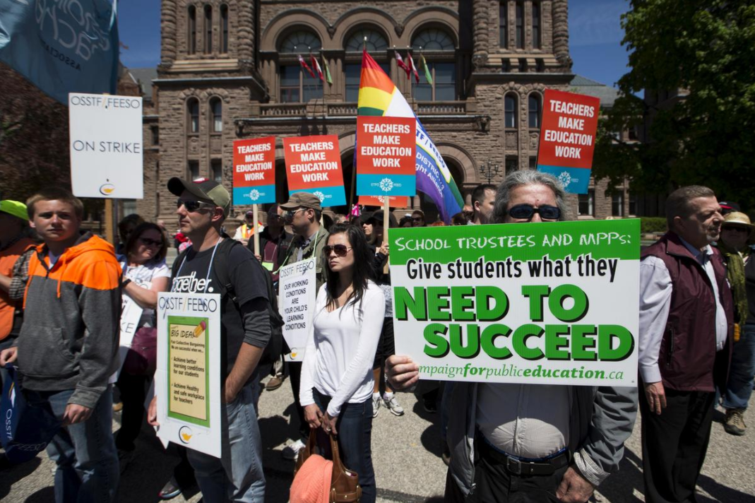 Canadian Teachers Strike Against The Consequences of Diversity. Too Stupid To Realize Diversity Is The Problem. Ontario Teacher Strike White Nationalism Canada  us canada politics government politics news